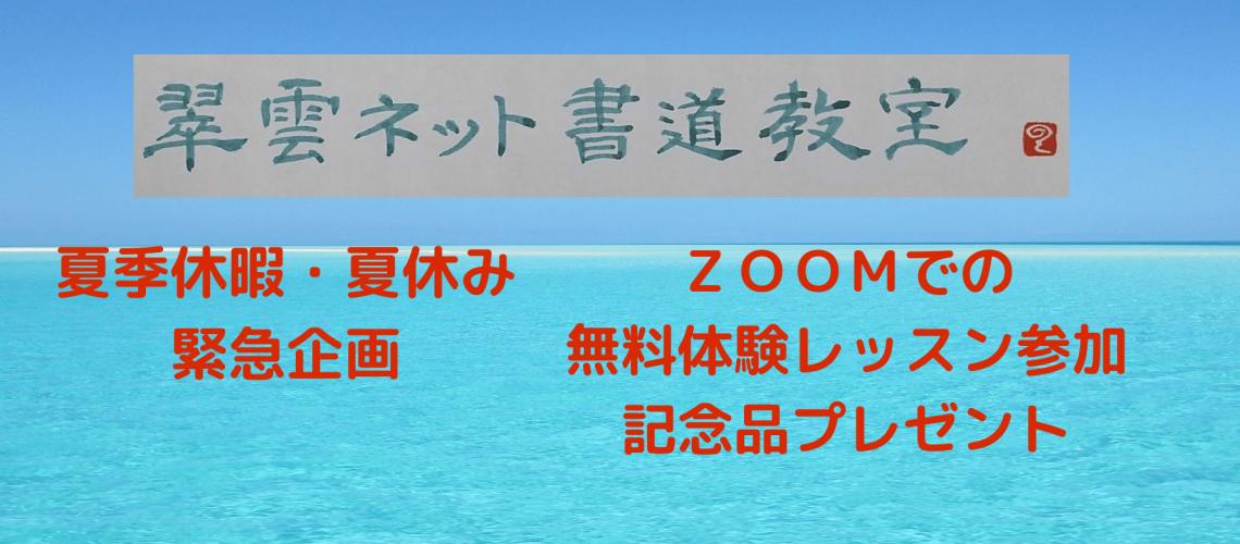 ZOOMでの 無料体験レッスン参加 記念品プレゼント (2)